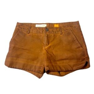 Pilcro and the Letterpress Faux Leather Shorts